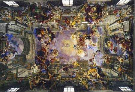 Andrea Pozzo, Vault in the Nave of the Church of Saint Ignazio, Rome, 1691-1694