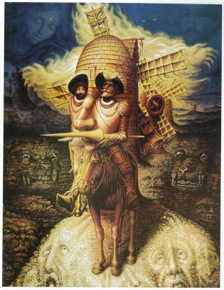Octavio Ocampo, Visions of Quixote, oil on canvas, 1989