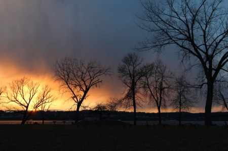 Sunset in Beacon, NY by Keri Valentine